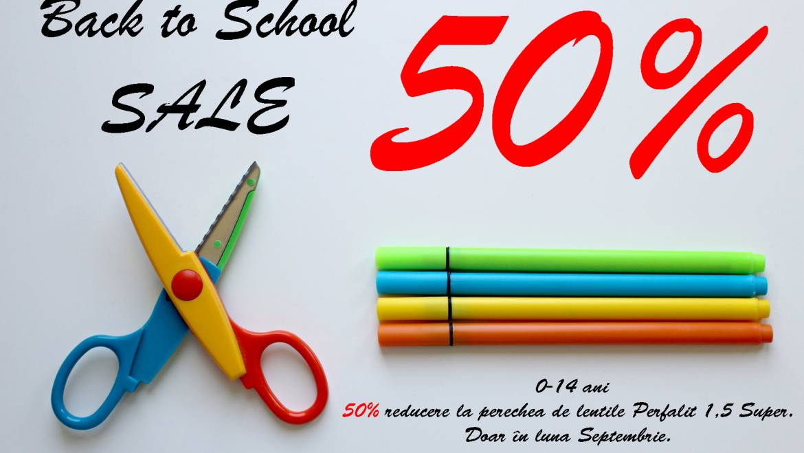 Back to School 50% OFF